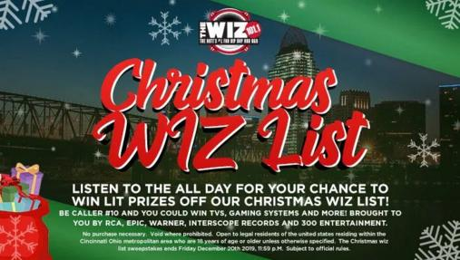 Christmas WIZ List Sweepstakes