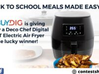 Buydig Chef Digital 5.8QT Electric Air Fryer Giveaway